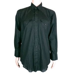 H Bar C Men Button Shirt Western Size 16 1/2 34